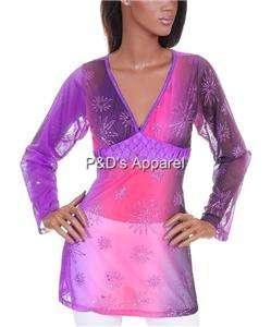 Womens Misses Clothing Purple Shirt Top Blouse S M L