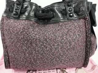 JUICY COUTURE After Dark Metallic Tweed RICH AUBERGINE PINK BLACK