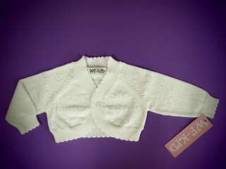 New Baby Girl 100% Cotton Sweater Pointelle Cardigan CK291013(0 24m