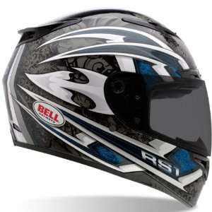 Bell RS 1 Cataclysm Full Face Motorcycle Helmet Blue Small