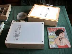 12x16 LIGHT BOX TABLE   TATTOO FLASH & ART TRACING