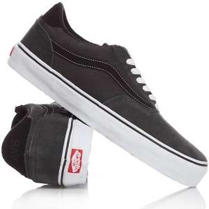 VANS SHOES NEW MENS AV6 BLACK CANVAS SIZE US 8