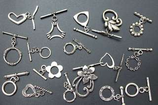 CLEARANCE Mixed Tibetan Silver Jewelry Toggle Clasps M3