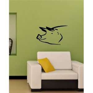 Pig Head Farm Animal Wall Vinyl Sticker Decals Art Mural