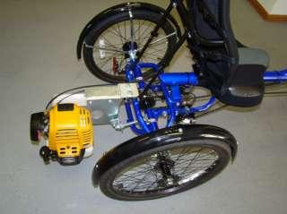 Sun X3 SX Trike Recumbent Bicycle Bike Gas Power Engine