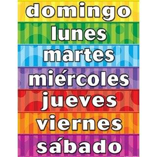 Teacher Created Resources Days of the Week (Spanish) Chart, Multi