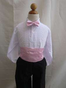 NEW PINK CUMMERBUND & BOW TIE SET FOR BOY TUXEDO SUIT