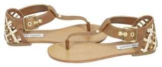 Steve Madden Sutttle Cognac Gladiator Sandals Shoes 7.5 New