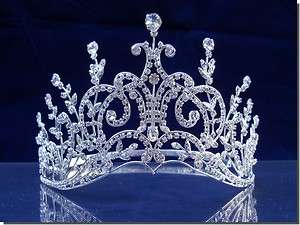 Bridal Wedding Crown Veil Pageant Homecoming Prom Crystal Tiara 52567