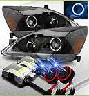 03 07 Honda Accord JDM BLK Halo Projector Headlights Lamps/10000K