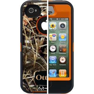 NEW APPLE IPHONE 4S 4 OTTERBOX DEFENDER CASE ORANGE CAMO MAX 4 BLAZE