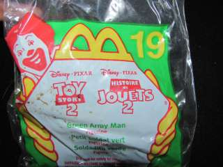 NEW IN PACKAGE MCDONALDS 1999 DISNEY PIXAR TOY STORY 2 GREEN ARMY MAN