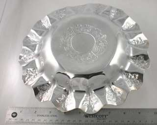 Fine Pairpoint Victorian Silver Plate Flower Ruffled Dish/Bowl