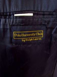 RALPH LAUREN POLO university club double breasted jacket blazer sport
