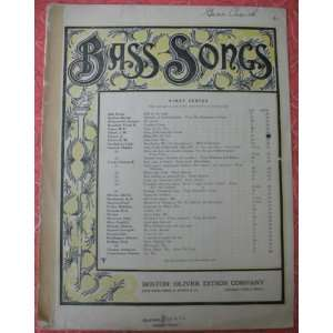 Songs, Firs Series, in Key of D    Cover ar by .G. Hale) A