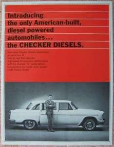 1969 CHECKER DIESEL Marathon Limo Taxi Cab Brochure VF