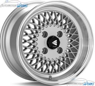 15x7 Enkei Enkei 92 4x114.3 4x4.5 +38mm Silver Machined Rims Wheels