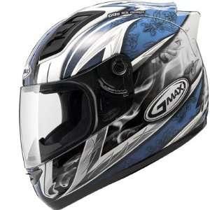 GM69 Full Face Street Helmet   White/Blue Small   72 4882S Automotive