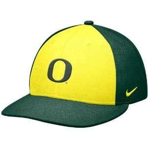 Nike Oregon Ducks Yellow Green Baseball Authentic 643