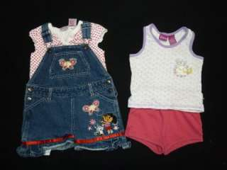 50pc TODDLER GIRL 2T   24 MONTHS SPRING SUMMER OUTFIT CLOTHES LOT BABY