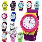 fashion girl s women s silicone quartz wrist watch multicolor