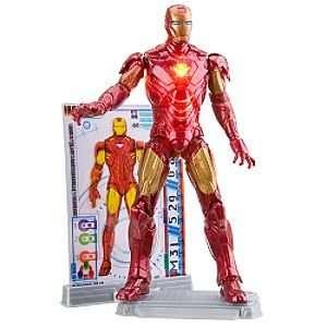 com Disney Mark VI with Power Up Glow Iron Man 2 Action Figure    3 3