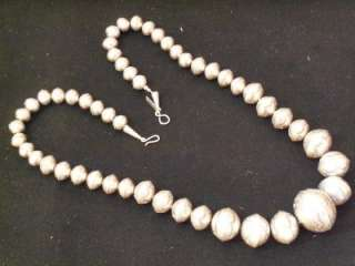 BEAUTIFUL DEAD PAWN NAVAJO PEARL STERLING SILVER NECKLACE W/ STAMPED