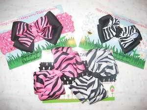 hair bow clip on crochet headband u pick baby/infant/toddler