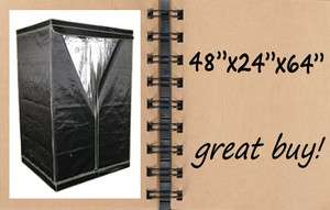 x64 Reflective Hydroponics Mylar Box GROW TENT 4x2 indoor green house