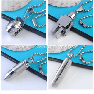 Style New 19 Punk Mens Stainless Steel Ball Chain Necklace Fashion