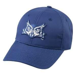 NCAA College ADULT RICE OWLS Navy Owl Head Hat Cap Adjustable Velcro