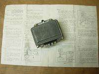 66 CORVETTE PONTIAC NOS TRANSISTOR VOLTAGE REGULATOR #1116378 DATED 4A