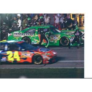 Kyle Bush and Jeff Gordon at Coke 400 in Daytona 2008