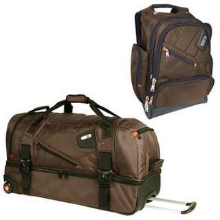 New 30 Rolling Duffel Bag & 15.4 Laptop Backpack Combo Ful Brown