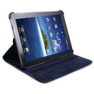 360 Rotating Leather Deep Blue Case Cover Stand for Samsung Galaxy Tab