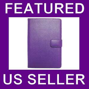 Ebook Kindle 3 Leather Case Cover Jacket Purple