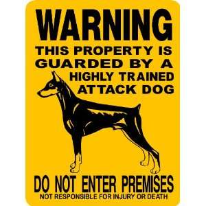 DOBERMAN PINSCHER DOG SIGN ALUMINUM Everything Else