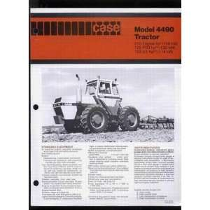 International Model 4490 Tractor Sales Brochure Case International