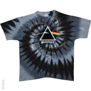 Pink Floyd Spiral Dark Side T Shirt (Tie Dye), M Sports