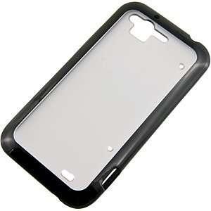 Hybrid TPU Back Cover for HTC Rhyme, Black/Clear