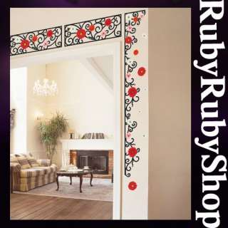 SS 58211 DAISY GARDEN WALL ART DECO DECOR MURAL STICKER