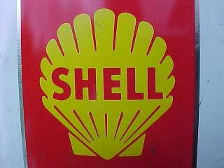 Vintage SUPER SHELL 1 gallon OIL CAN   NICE SHAPE