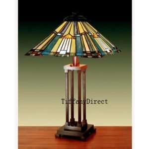 Tiffany Style Stained Glass Table Desk Lamp Mission T1804