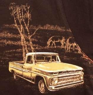 Horses Ranch Trucks Bit Bridle T Shirt Black L NWT