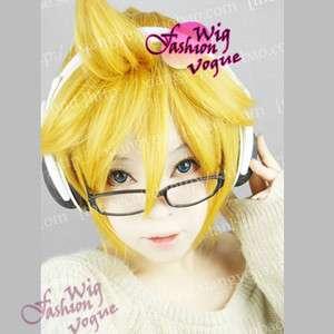Vocaloid Kagamine Len Cosplay Short Golden Blonde Hair Wig