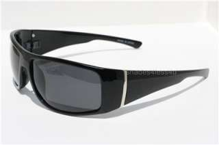 MEN LARGE BIKER LOCS STYLE POLARIZED SUNGLASSES BLACK