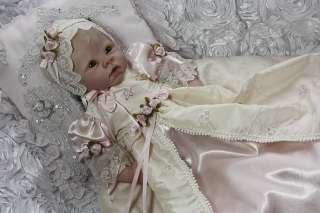 Reborn Baby Victorian Princess Elegance Gown Dress & Bonnet~