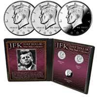 JFK Half Dollar Mint Mark Collection   US Coins NEW