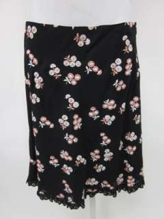 MOSCHINO CHEAP & CHIC Black Floral Print Pencil Skirt 6