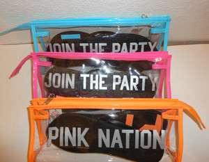 Victorias Secret LOVE PINK Flip Flops w/ Pouch Bag Case NIB